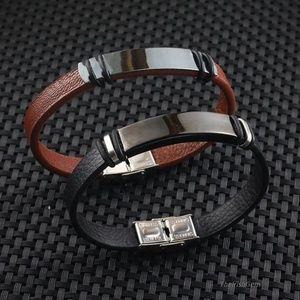 Other - Leather & Blackened Steel  Bracelet